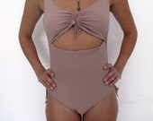 Women stripes swimsuit pink