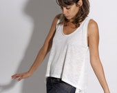 Women white tank top S/M