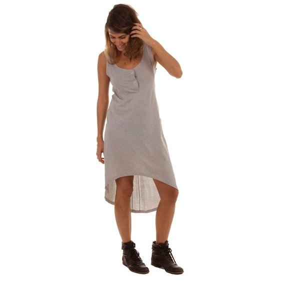 Sale 40% OFF, Women tank dress - Gray knit dress.