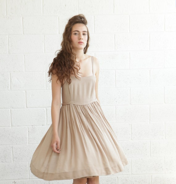 ENJOY 50% OFF Summer Cocktail Dress - Beige.