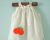 Vintage Fruit Summer Top with Ruffles 12 months