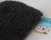 Dark Grey Thick Wool Hat-Adult Size, Man or Woman FREE SHIPPING