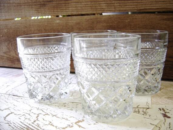Vintage Anchor Hocking Wexford Tumblers / Juice Glasses