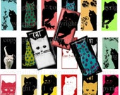 Cat, Cats, Digital Download, Pendants, Magnets, Scrapbooking, Earrings, Stationery, Pins