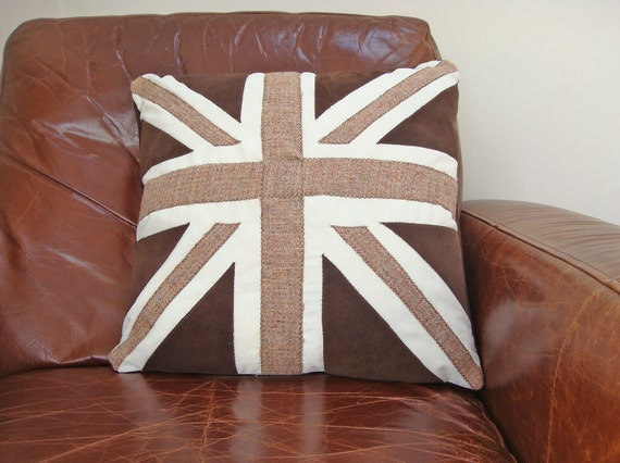Chocolate Union Jack Cushion Cover