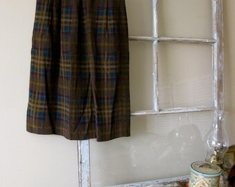 Autumn Plaid Skirt