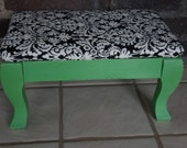 Vintage footstool - Upcycled