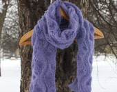 Lavender Waves scarf - Knitting accessories - Gift for her