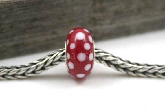 SALE... Polka dots  cored with sterling silver tubing