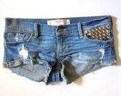 Studded Gilly Hicks Denim Cutoffs//Reconstructed