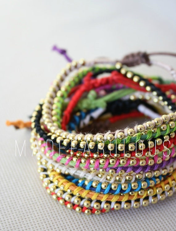 Handmade Multi-colored Twisted Beaded Bracelets//WRIST CANDY -- Choose your Color