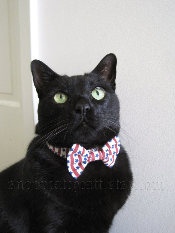 Cat Bow Tie - Stars and Stripes Forever