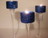 Custom listing for Christina Johnson Wedding Votive Navy Blue Gel