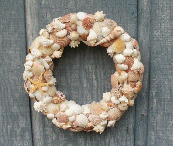 Sea Shell Wreath in Natural Colors by Silk N Lights