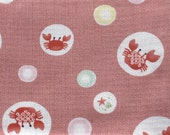 RESERVED FOR LYDIA - Crabes - Traditional Japanese Fabric - Fat Quarter