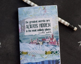 Mini Notebook Roald Dahl quote Greatest Secrets Jotter
