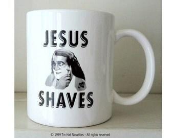 Jesus Shaves Ceramic Mug