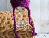Soft Purple Crochet Scallop Beanie. Newborn Size Ready to Ship