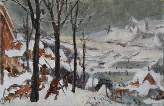 Hunters in the Snow (Winter)