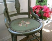 Shabby Sweet Needlepoint Chair
