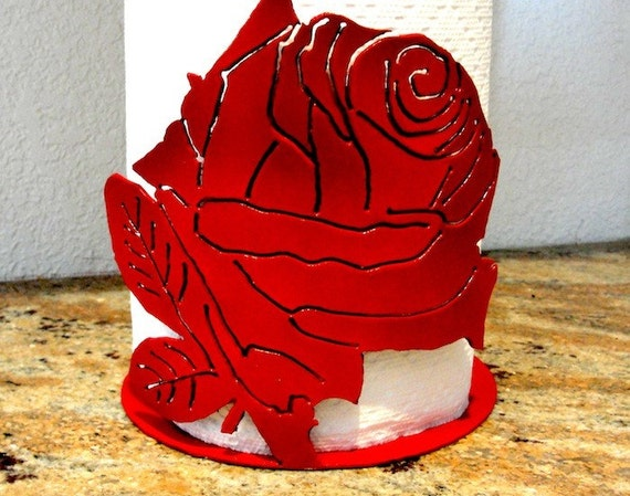Rose Paper Towel Holder