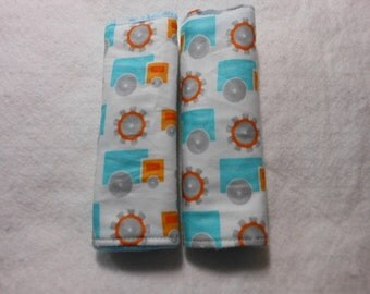 Creamsicle Trucks Infant/Toddler Reversible Car Seat Strap Covers