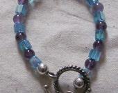 Amethyst & Blue Crystal bracelet