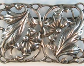Old Vintage Danecraft Sterling Floral Brooch Pin Scandinavian Style Flowers Leaves