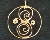 RESERVED for RAGAMUFFINRAE Doctor Who Pendant Inspired By Seal of Rassilon