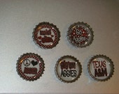 Recycled Aggies Bottle cap magnets