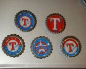 Recycled Texas Rangers Bottle cap magnets