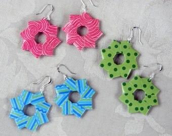 Origami Wreath Earrings