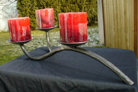 CANDLE HOLDER Forged by BLACKSMITH