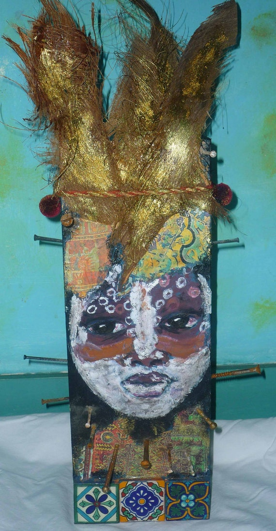 Female fetish, mixed media sculpture