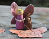 Butterfly wooden peg doll kit (hand painted)