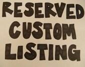 custom order for Renae