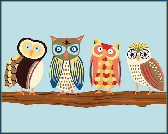PRINT - Owls