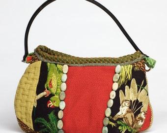 Medium sized hobo Hawaiiania inspired purse