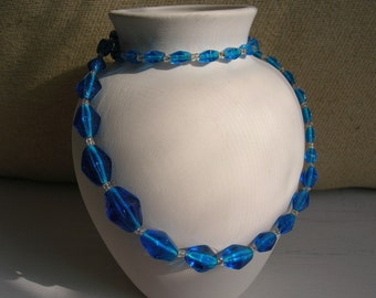Vintage Blue Glass Beads