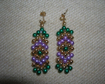 Vintage Beadwork Earrings