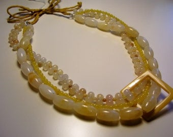 Statement Mellow Yellow Jade necklace