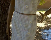 Daisy Gingham Two-Piece Outfit Size Medium