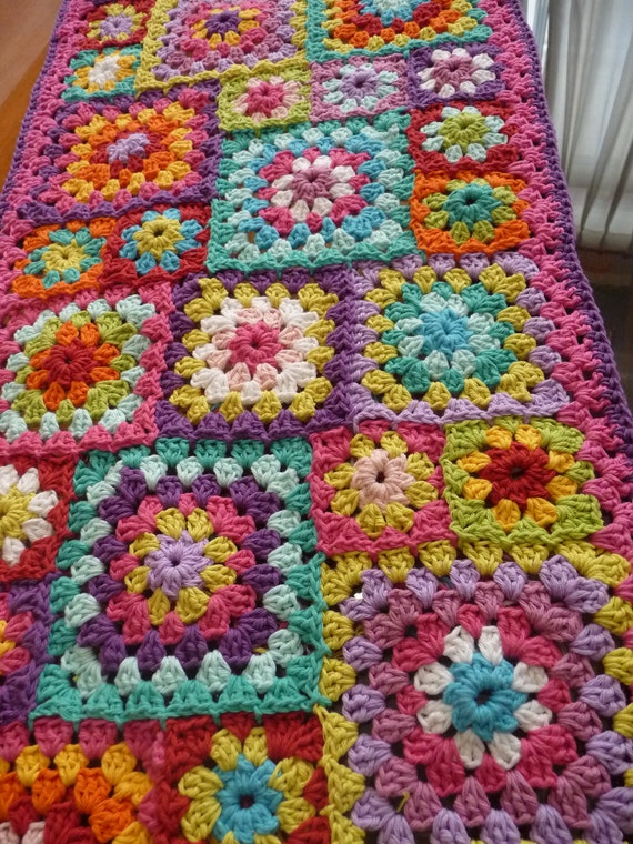 Crochet Granny Square Rug Patterns : Unavailable Listing on Etsy