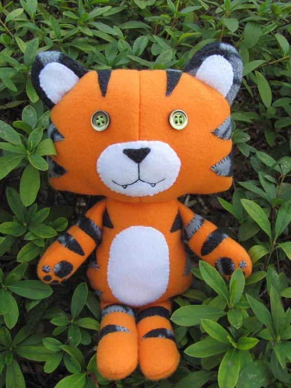 Eco-friendly, hand-sewn, OOAK Tiger