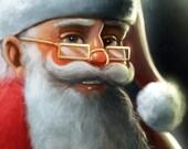 11x14 Santa Claus Portrait - Print