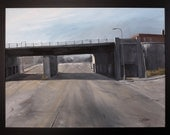 """Mexican Town Detroit. Oil on canvas. 33"""" X 44"""" Framed"""