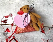 Fresh Cut Roses  - Scented Sachet with Cute Teddy bear - Cute Valentine's Gift