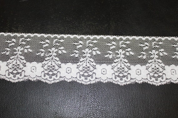 White Lace Trim--2.5 inches wide