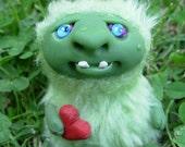 Love Monster Greeniezilla - hand sculpted miniature
