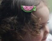Cute Watermelon Hair Clip - Meet Miss Juicy